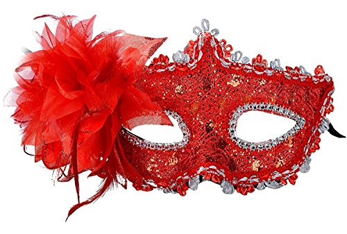 TANKASE Estilo veneciano encaje con Rhinestone Liles Traje Mascarada Máscara Mardi