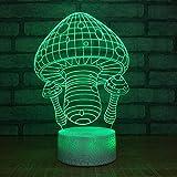 3D Led Luz Noche Seta 3D Lámpara Óptico Illusions Escritorio Lámpara Decoración Niño Fiesta Cumpleaños Regalo Room Decor
