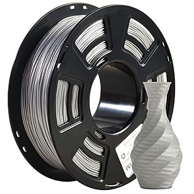 PLA Filament 1.75mm Sparkly Glitter 3D Printer Filament, Geeetech 3D Printer PLA Filament,1.75mm,1kg per Spool,Sparkly Glitter Silver