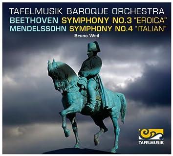 """Beethoven: Symphony No. 3 """"Eroica"""" -  Mendelssohn: Symphony No. 4 """"Italian"""""""