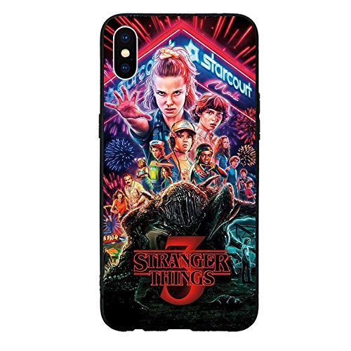 TPU Cover Case Compatible with iPhone 7 8,Stranger Things Gel Rubber Full Body Protection Shockproof Cover Case Drop Protection Cell Phone Shell-Au027