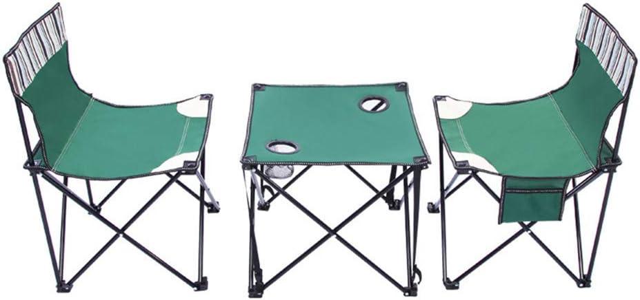 Mesa de patio con jardín de picnic Juego de sillas ligeras, portátiles, para actividades al aire libre, plegables, portátiles, al aire libre, con bolsa de transporte, 2 sillas + mesa, tamaño compacto