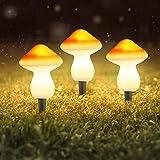 Verdelife - Guirnalda de luces solares para jardín, resistente al agua, energía solar, seta, luces LED decorativas para jardín, boda, césped, patio [clase energética A++]