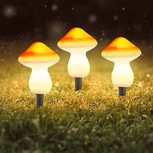 Haavpoois Solarleuchten Im Freien Garten, 9 Leds Pilz Dekorative Lampe Ip44 Wasserdicht & Zwei Lichtmodi Yard Lawn Landscape Decor Beleuchtung Für Party, Hochzeit