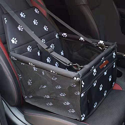 SWIHELP Hundesitz für Auto Rücksitz für kleine bis mittlere Hunde - stabiles & wasserfestes Material schwarz - Hunde-Autositz für Rückbank faltbar - Schutz für Autositze