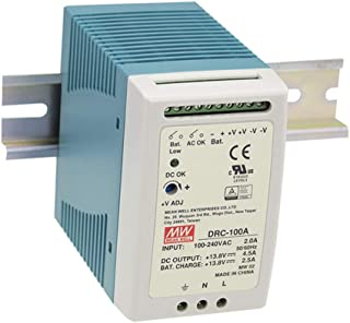MEAN WELL DRC-100B 27.6V 2.25A 1.25A 96.6W Single Output with Battery Charger (UPS Function) Security Series