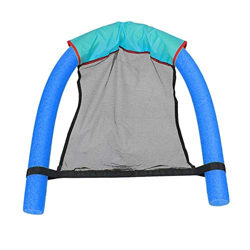HBBOOI Pool Schwimmender Sitze, Erstaunlicher Bed Noodle Stühle Netto-Schwimmen-Ring-Stock-Pool-Spaß Stuhl Pool & Accessoires for Kinder Erwachsene (Color : Blue)