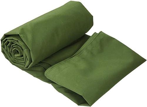 LQq-Baches Grand tissu de cargaison imperméable à l'eau double face résistant imperméable de camion de bache de PVC - épaisseur 620g   m2 0.9mm vert pour le camping en plein air (taille   5X4M)