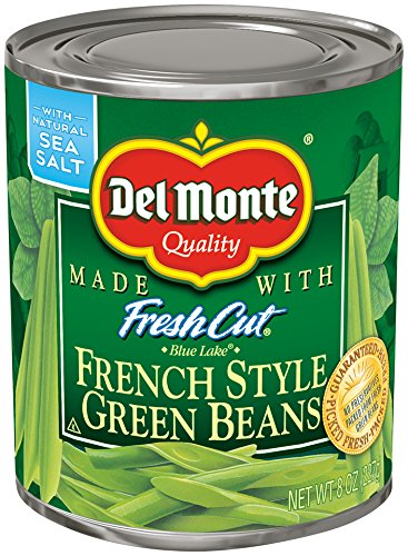 Del Monte Canned Fresh Cut French Style Green Beans, 8 Ounce (Pack of 12)