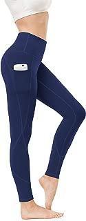 High Waist Yoga Pants, Pocket Yoga Pants Tummy Control Workout Pants 4 Way Stretch Pocket Leggings
