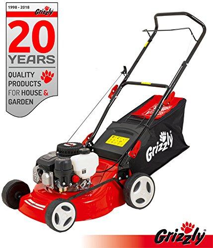 Grizzly Tondeuse à Gazon à essence BRM 4210–20 1,6 kW 2,1 PS 42 cm Largeur de coupe 5 Compartiment Hauteur réglable