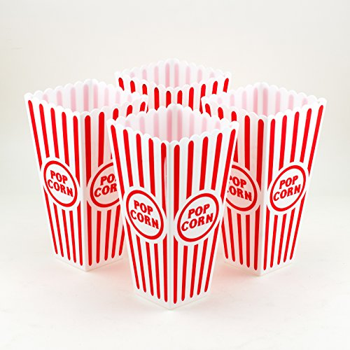 Product Image 2: Tytroy 4 Piece Plastic Reusable Movie Theater Style Popcorn Container Set