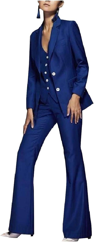 ROHEP Women's Premium FlaredLegs Blazer Suits Work Pants,Vest Jacket