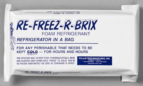 Polar Tech - RB 30 RB30 Re-Freez-R-Brix Foam Refrigerant Pack, 9' Length x 4' Width x 1-1/2' Thick (Case of 3)