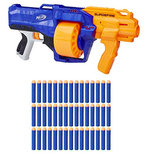 Hasbro E2592 Nerf N-Strike Elite Surgefire Blaster Gewehr mit Trommel inkl. 45 Darts Up Pack