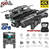 Wpond S167 GPS Drone con cmara 5G RC Quadcopter Drone 4K WiFi FPV Plegable Off-Point Flying Gesture Photos Video Helicptero de Juguete Batera 5G 4K 3