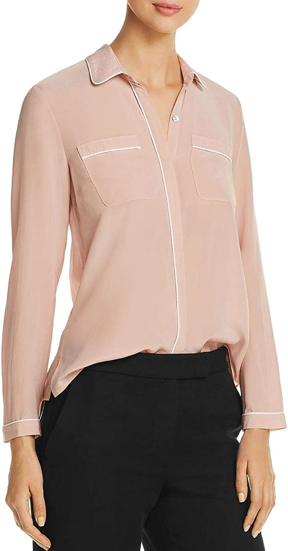 Daniel Rainn Womens Silk ButtonDown Blouse