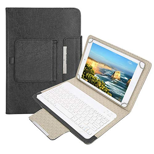 Eboxer Tastiera Bluetooth Portatile e Custodia Sottile Cover con Tastiera Staccabile, Staffa, Supporto Integrato Custodia sicura per 9.7-10.1 Pollici per Tablet iPad/Samsung, per Huawei/Windows
