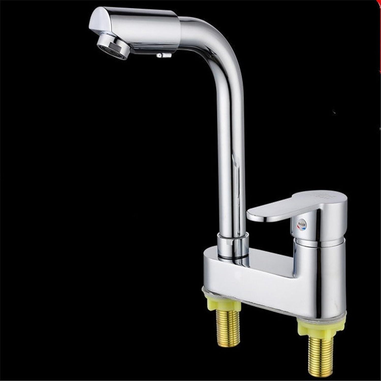 ETERNAL QUALITY Bad Waschbecken Wasserhahn Küche Waschbecken Wasserhahn Kupfer Hei Und Kalt Einhand-Doppellochrotation Waschtischmischer BEG1024