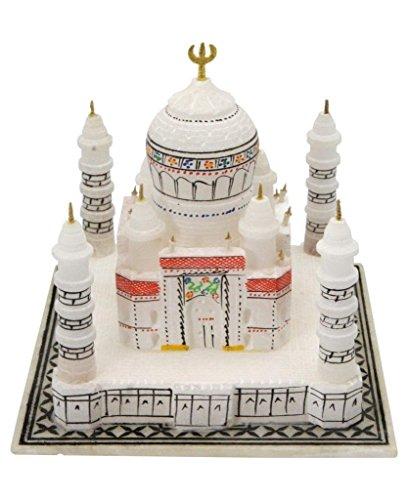 Artist Haat Marmo Fatto a Mano Taj Mahal Replica con Sottili, 10,2cm Marmo Bianco