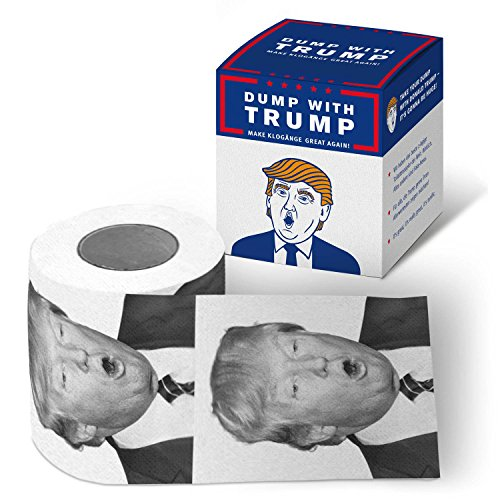 Goods & Gadgets Take a Dump with Donald Trump wc-papier - Het leuke toiletpapier voor alle Bernie-Sanders fans & Hillary Clinton Belanglos-Finder