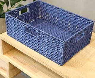 Boîte de Rangement tissée de paniers de Rangement tissés de Panier de Rangement de Panier de Jouets Divers, Bleu Clair 38 ...