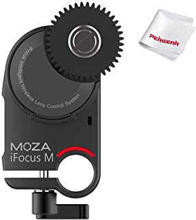 MOZA iFocus-M Follow Focus Motor, Specially Customized for the MOZA Air 2, AirCross 2 Gimbal Stabilizer Wireless DSLR Camera Lens Control System to Reach Focus & Zoom Control,/W PERGEAR Cleaning Cloth