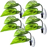 BHUCUTU 5 Pieces Betta Fish Leaf Betta Bed Leaf Hammock Fish Spawning Grounds with Suction Cup