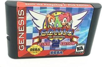 Royal Retro Sonic 2 édition rose pour console de jeux vidéo Sega Genesis et Mega Drive 16 bits (noir)