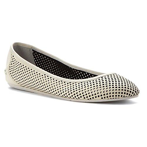 Lacoste Women's Cessole 216 1 Ballet Flat (5, Off White)