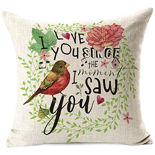 963RW Best Girlfriend Gifts Lover Couple Sweetheart Present Sweet Sayings. Cotton Linen Throw Pillow Case Cushion for Bed Porch Coach Sofa New Home Decorative 18 x 18