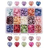 DaoRier DIY Accesorios Accesorios del Remiendo del Remiendo del corazn de la Perla Acrlico Sobre 40 / Color 600 / Caja