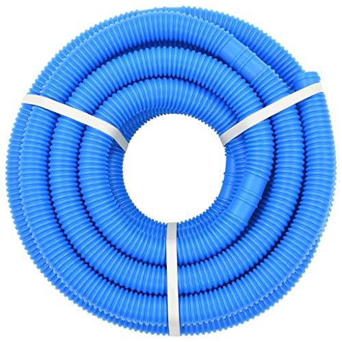 Tidyard In den Boden eingelassener Pool-Vakuumschlauch aus Polyethylen mit drehbarer Manschette, 38 mm * 12 m / 15 m