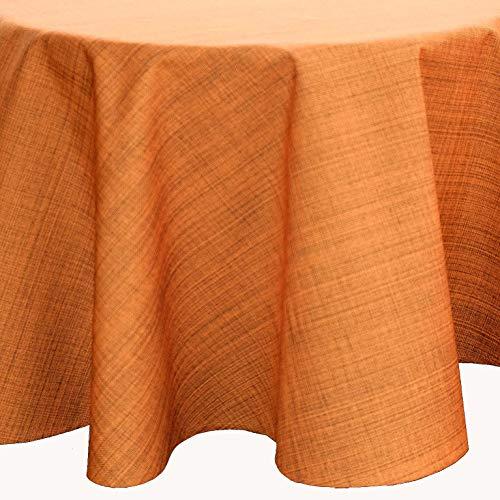 Kamaca Outdoor Tischdecke Gartentischdecke Garden - die perfekte Textile Decke für drinnen und draußen fleckabweisend witterungsbeständig knitterfrei (Terra - meliert, Tischdecke 145 cm rund)