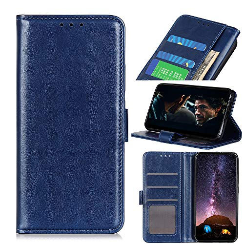 ROVLAK Funda para Alcatel 1B 2020 Flip Case Cuero Magnética Cartera Funda con Tarjeta Ranuras Wallet Cover Antigolpes Protectora Estuche para Alcatel 1B 2020 Smartphone,Azul