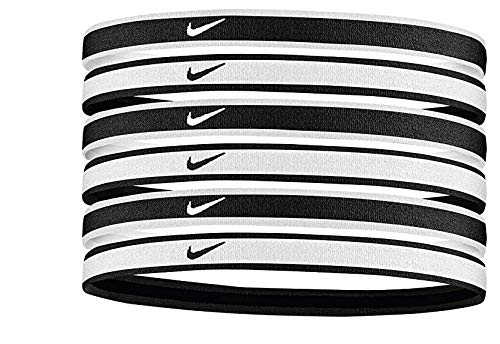 Nike Unisex– Erwachsene Swoosh Stirnband, Schwarz/Weiß, One Size