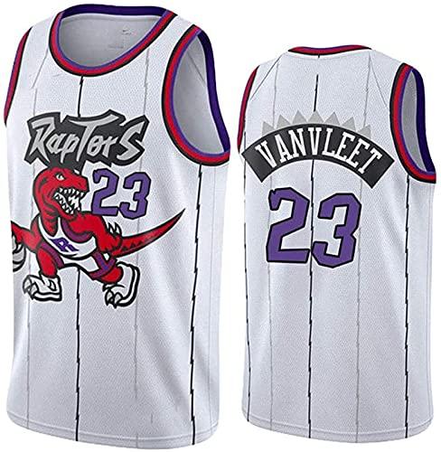 ASKI Jersey Toronto Raptors # 7# 23# 43 Jersey, Camiseta de Baloncesto Unisex, Chaleco Bordado de Malla Transpirable, Blanco 7, s, White 23-3XL