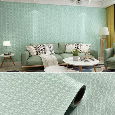 jidan Moderne einfache 3D Geometrische Muster selbstklebendes Tapete Wohnzimmer TV Sofa Schlafzimmer Wohnkultur Hintergrund Wand-Papier-Aufkleber (Color : Light Green, Dimensions : 5mx60cm)