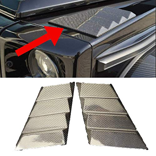 BRABUS Style Carbon Fiber Side Trim Covers Rocker Cover for Mercedes G WAGON W463, G500, G63, G65