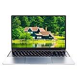 Ordenador portátil de 15,6 pulgadas, procesador Intel J4125 Quad Core, sistema operativo Windows 10 Pro, 8 GB de RAM, 128 GB SSD, Full HD 1920 x 1080, diseño compacto, color plateado, Z15