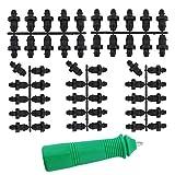 AIEX 50 Tapones De Riego por Goteo Riego por Goteo Piezas con 1 Herramienta De Perforación De Orificios para Suministros De Tubería De Manguera De Jardín Doméstico