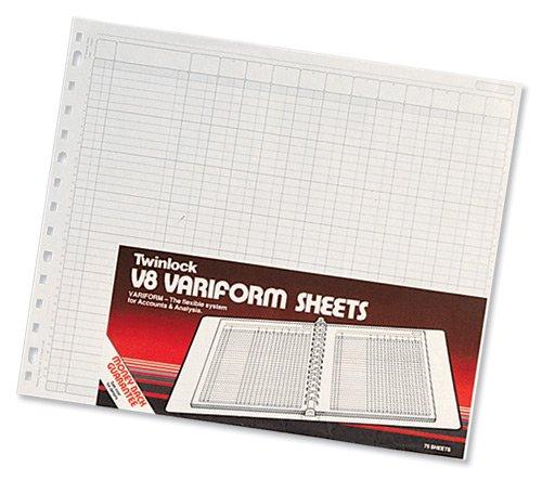 Rexel Twinlock V8 Variform - Hojas de contabilidad de 10 columnas (75 unidades)