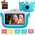 Kids Camera for Girls Gifts Kids Digital Camera Children Selfie Toy Camera, 3.0 Inch Touch Screen Toddler Camera Kids Camcorder Video Recorder with 32G TF Card from MINIBEAR