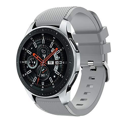 MuSheng Compatible for Samsung Galaxy Watch 46MM Armband Band, Mode Sport Weicher Verschlei?fest Silikon Ersatz Armband Band Kompatible f¨¹r Samsung Galaxy Watch 46mm