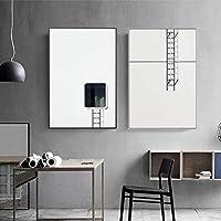 キャンバス絵画抽象ミニマリスト北欧静物プリントポスター壁アート写真ギャラリーリビングルームインテリア家の装飾-40x60cmx2フレームなし