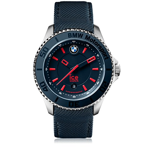 Ice-Watch - BMW Motorsport (steel) Blue Red - Reloj blu para Hombre con Correa de cuero - 001114 (Medium)