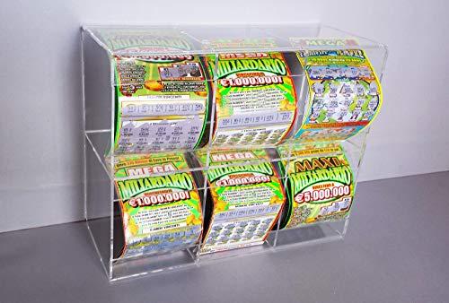Tutto_espositori Porta Gratta e Vinci da banco o Parete a cubo (6 cubi Orizzontale)