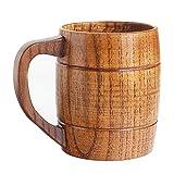 Best Wooden Beer Mugs for Men Women Camping Cup Wood Travel Coffee Mugs Craft Tankard Tea Drinking Cup Gift Outdoor Mug