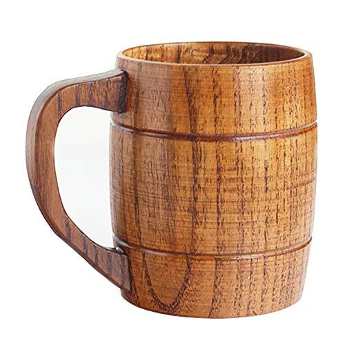 Best Wooden Beer Mugs Camping Cup Wood Travel Coffee Mugs Craft Beer Glasses Tankard Tea Drinking Cup Gift