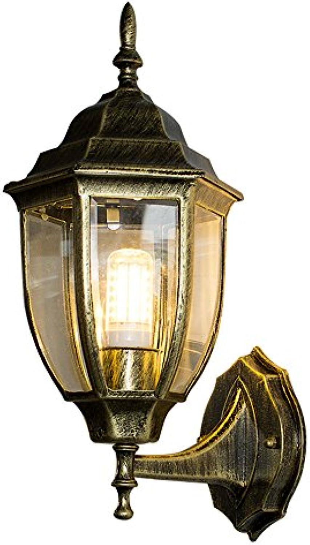 StiefelU LED Wandleuchte nach oben und unten Wandleuchten Wandleuchte aus Eisen retro Wasserdichte outdoor Flure, Treppen LED grün Gold 36,5  20 CM
